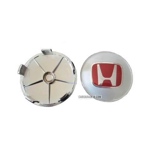 SIZE 68mm RED CHROME WHEEL CENTER CAP FOR HONDA