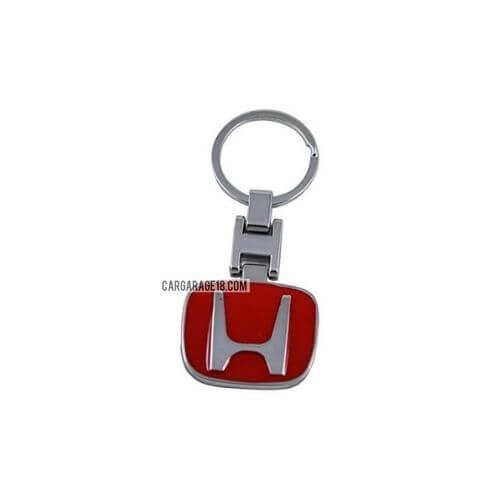 RED CHROME KEY RING FOR HONDA