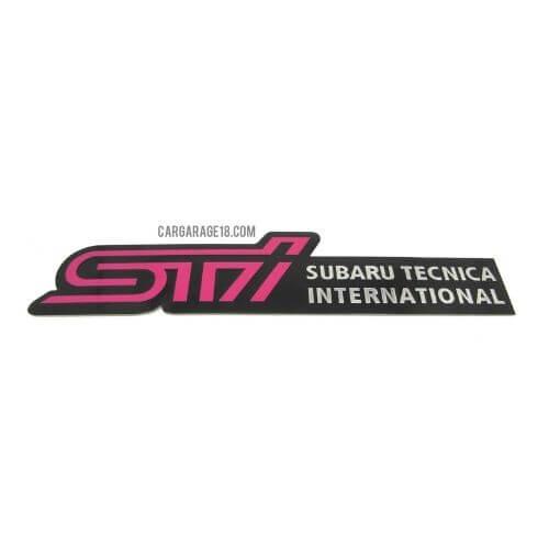 SIZE 165x37mm STI SUBARU TECNICA INTERNATIONAL EMBLEM