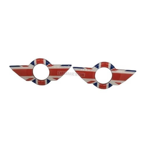 Door-Lock-Knobs-Union-Jack-Style-Wing-Emblem-For-Mini-Cooper