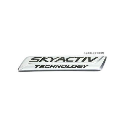 SIZE 100x20mm CHROME SKYACTIV TECHNOLOGY EMBLEM FOR MAZDA