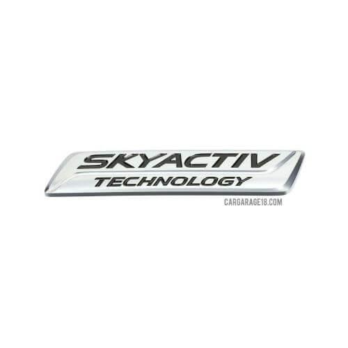 SIZE 110x20mm CHROME SKYACTIV TECHNOLOGY EMBLEM FOR MAZDA CX-5