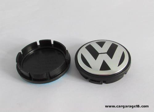SIZE 56mm BLACK CHROME CONVEX MODEL WHEEL CENTER CAP FOR VOLKSWAGEN