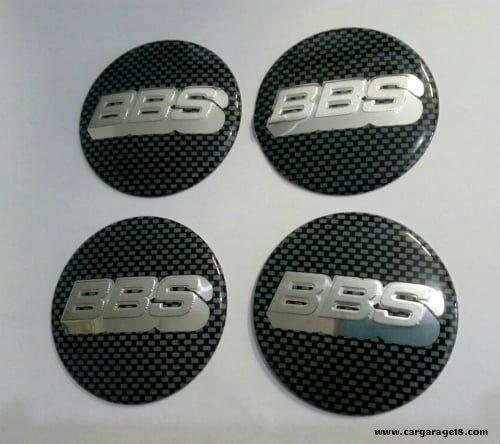 Dop Velg BBS 65 mm Black White Carbon