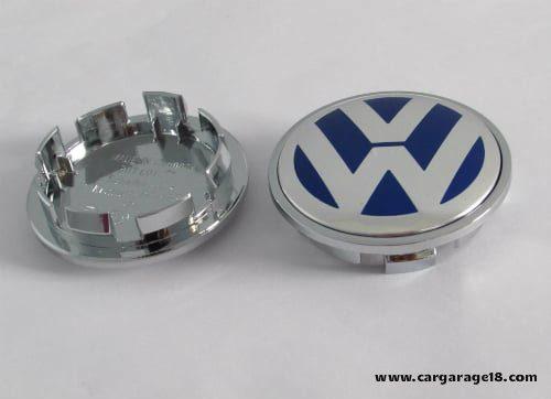 Dop Velg VW 65mm White Dark Blue