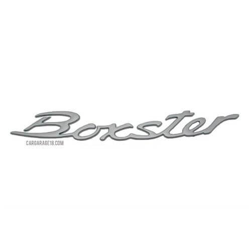 SIZE 285×35mm SILVER Boxster LETTER EMBLEM FOR PORSCHE
