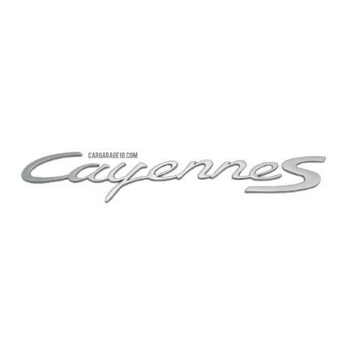 SIZE 325x55mm SILVER Cayenne S LETTER EMBLEM FOR PORSCHE