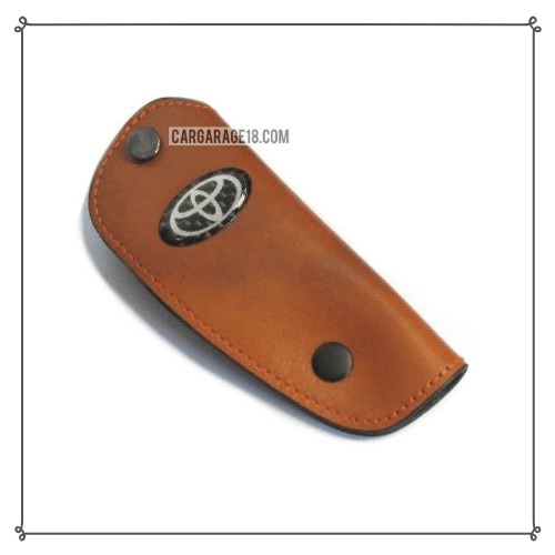 LIGHT BROWN KEY CASE LEATHER MATERIALS SIZE 10.5×4.2cm FOR TOYOTA
