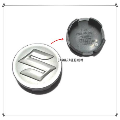 SIZE 60mm SILVER WHEEL CENTER CAP FOR SUZUKI