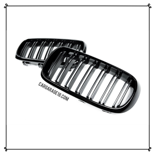 GRILL GLOSSY BLACK, DOUBLE SLATS FOR BMW X5 F15, X6 F16 (15-16) PAIR