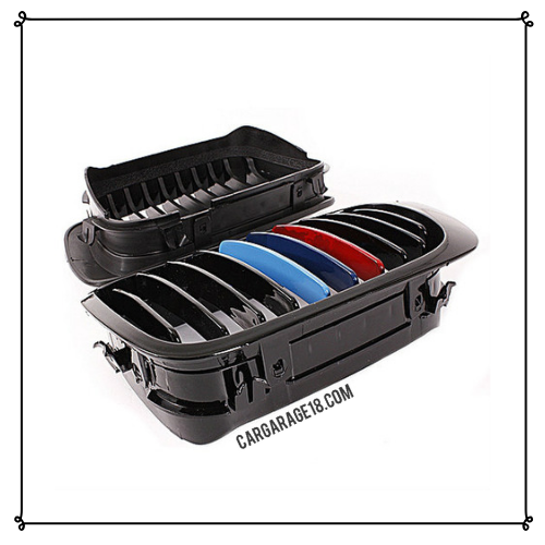 GRILL M COLOR GLOSSY BLACK FOR BMW E46 PRE FACELIFT (98-01) PAIR