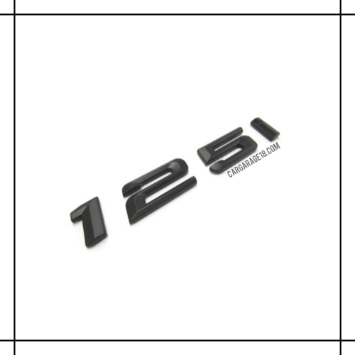 BLACK 125i EMBLEM FOR BMW