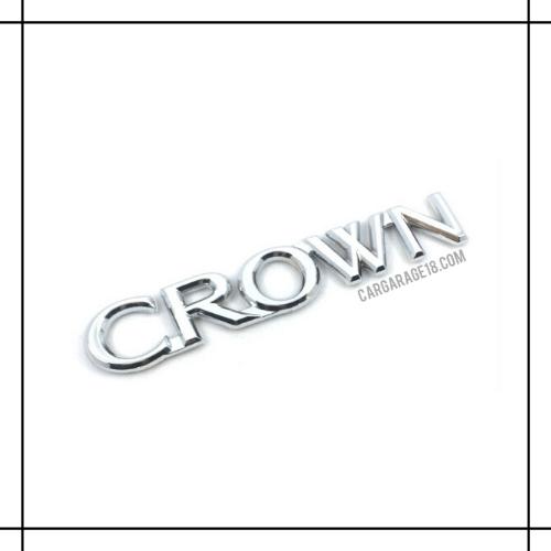 CHROME CROWN LETTER EMBLEM SIZE 14.3x2.5cm