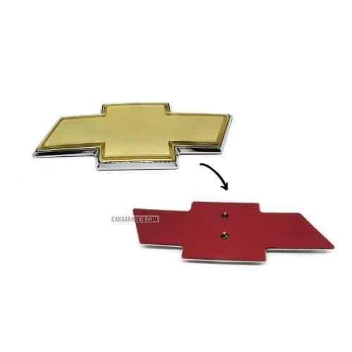 SIZE 152x58mm GOLD CHEVROLET LOGO EMBLEM