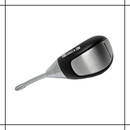 BLACK CHROME AMG LOGO WOOD SHIFT KNOB MATIC FOR MERCEDES BENZ W124, W201, W202 (1991-1993)