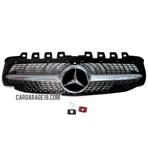 GRILL-W177-DIAMOND-STYLE-SILVER-CHROME-FOR-MERCEDES-BENZ