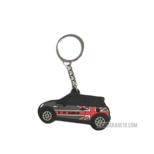 LED KEY CHAIN RED GREY FOR MINI COOPER