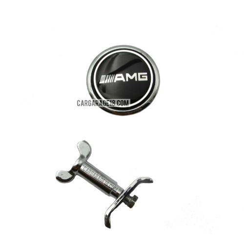 AMG-ENGINE-HOOD-EMBLEM-BLACK-FOR-MERCEDES-BENZ