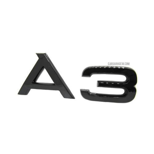 GLOSSY BLACK A3 EMBLEM FOR AUDI