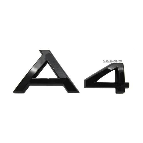 GLOSSY BLACK A4 EMBLEM FOR AUDI