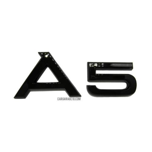 GLOSSY BLACK A5 EMBLEM FOR AUDI