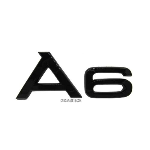 GLOSSY BLACK A6 EMBLEM FOR AUDI