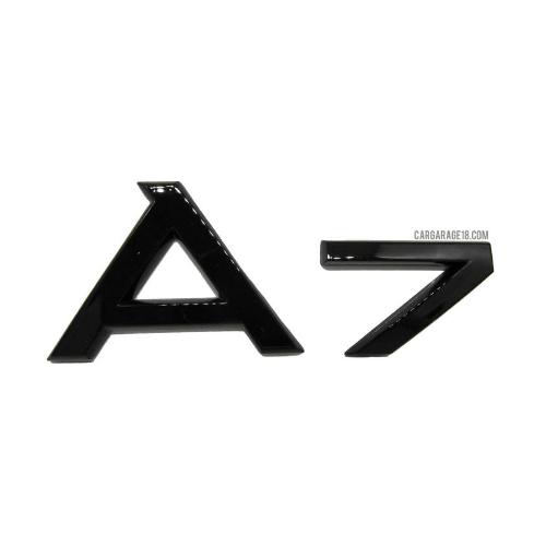 GLOSSY BLACK A7 EMBLEM FOR AUDI