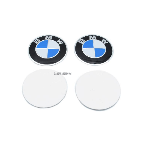 BLUE BMW LOGO WHEEL CENTER EMBLEM SIZE 60mm