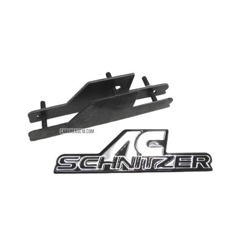 BLACK AC SCHNITZER GRILLE EMBLEM FOR BMW