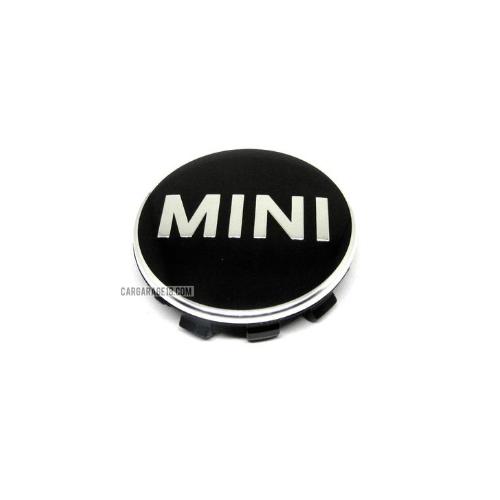 BLACK WHEEL CENTER CAP SIZE 52mm FOR MINI COOPER F55, F56, CLUBMAN F54, CABRIO F57, COUNTRYMAN F60