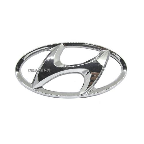 CHROME HYUNDAI LOGO EMBLEM SIZE 130x65mm