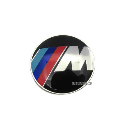 BLACK ///M TECH STEERING WHEEL EMBLEM SIZE 45mm FOR BMW