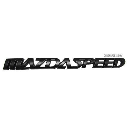 MATTE BLACK MAZDA SPEED LETTER EMBLEM SIZE 165x20mm