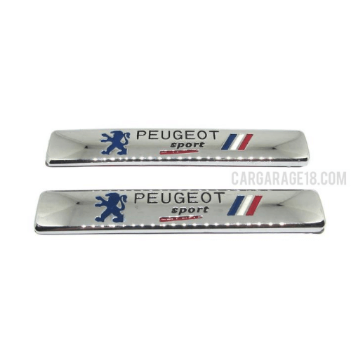 PEUGEOT SIDE EMBLEM CHROME STAINLESS MATERIALS SIZE 9.5x1.5cm