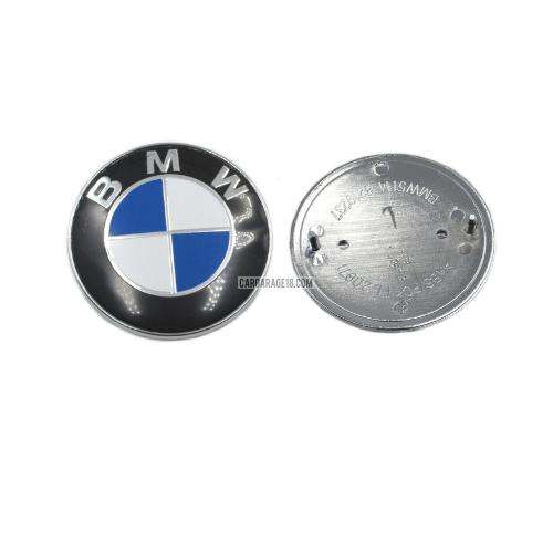 BLUE WHITE TRUNK EMBLEM SIZE 74mm FOR BMW