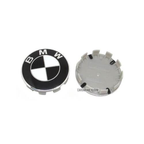 BLACK and WHITE BMW WHEEL CENTER CAP SIZE 68mm
