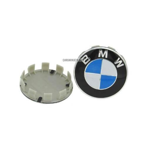 BLUE WHITE BMW WHEEL CENTER CAP SIZE 68mm