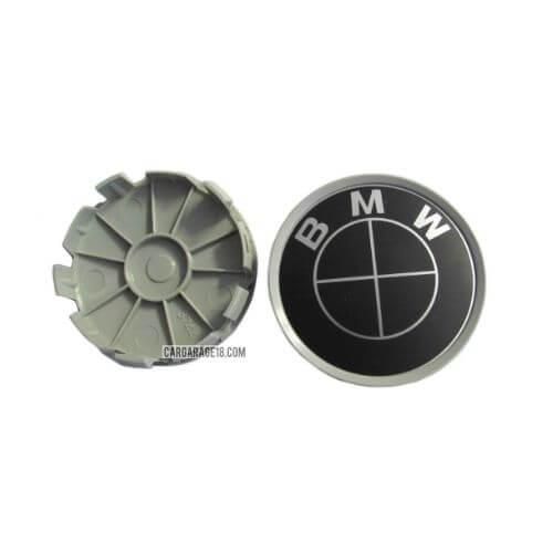 BLACK BMW WHEEL CENTER CAP SIZE 68mm
