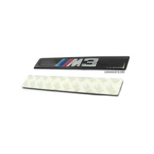 BLACK ///M3 SIDE EMBLEM SIZE 110x17mm FOR BMW