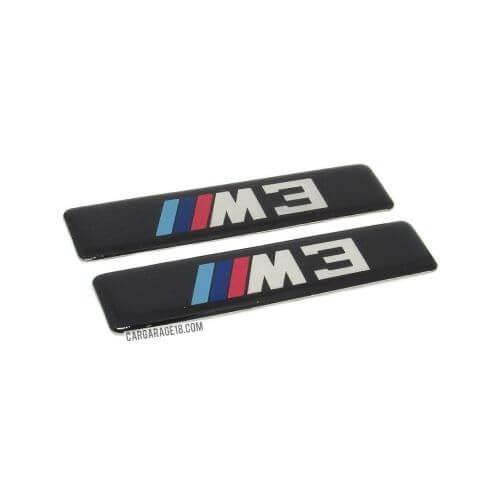 BLACK ///M3 SIDE EMBLEM TYPE 2 SIZE 88x20mm FOR BMW