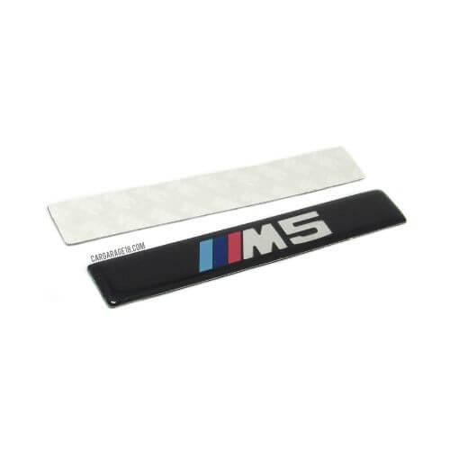 BLACK ///M5 SIDE EMBLEM SIZE 110x17mm FOR BMW