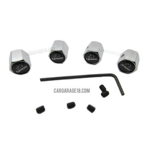 Black Carlsson Logo Tire Valve Cap For Mercedes Benz
