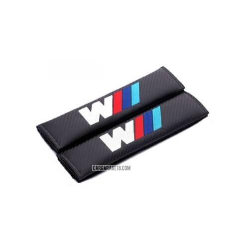 BLACK CARBON MTECH SEAT BELT COVER FOR BMW