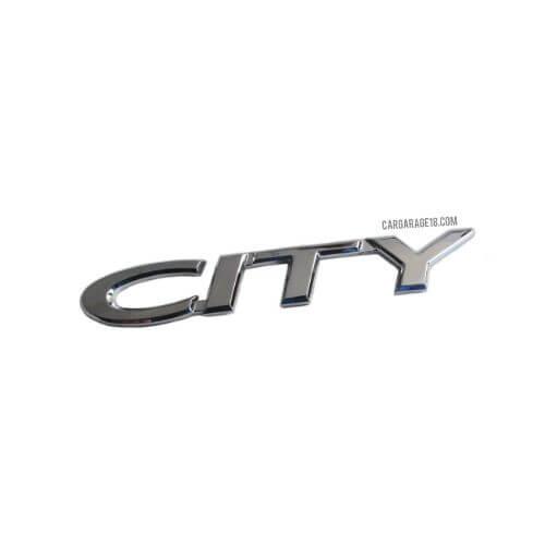 CHROME CITY LETTER EMBLEM FOR HONDA
