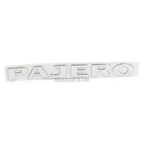 CHROME PAJERO LETTER EMBLEM SIZE 235x24mm