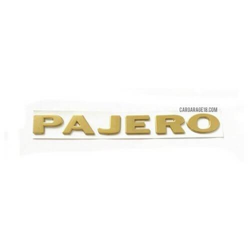 GOLD PAJERO LETTER EMBLEM SIZE 205x22mm