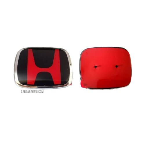 BLACK and RED HONDA REAR LOGO EMBLEM SIZE 98x80mm FOR BRIO