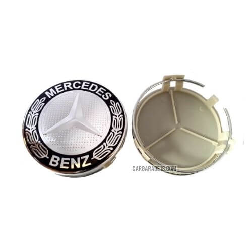 BLACK CHROME WHEEL CENTER CAP SIZE 75mm FOR MERCEDES BENZ