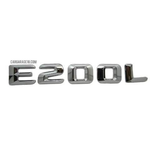 CHROME E200L EMBLEM FOR MERCEDES BENZ