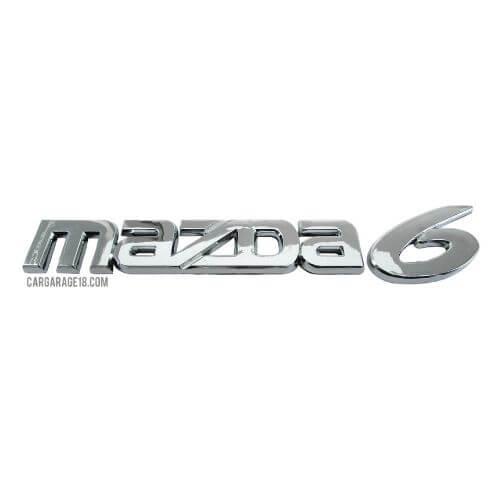 CHROME MAZDA 6 LETTER EMBLEM SIZE 200x26mm